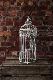 Tea light birdcages