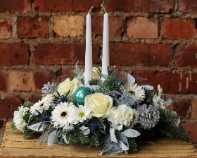 Frosty Winter Table Arrangement