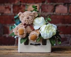 Artificial Vintage Baby Arrangement
