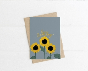 Birthday Card   Sunflower